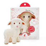 Mia the Lamb Teething Toy - 100% Pure Natural Rubber, BPA, PVC, phthalates Free