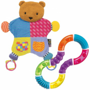 Amazing Baby Blanket Teether Bear with Figure 8 Teether