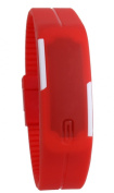 USPRO® Fashion LED Watch Novelty Sports Silicone Digital Bracelet Red With Very Creative Plastic Band