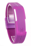USPRO® Fashion LED Watch Novelty Sports Silicone Digital Bracelet Purple With Very Creative Plastic Band