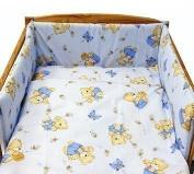 "BABY TODDLER JUNIOR BED COT BUMPER 35 cm x 150 cm (13.8"" x 59"") Blue Bear"