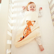 Wee Urban Cosy Basics Four Season Baby Sleeping Bag, Natural Foxes, Medium 6-18 months