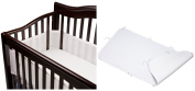 BreathableBaby Breathable Mesh Crib Bumper with Ultimate Crib Sheet, White