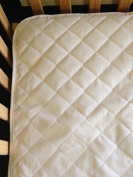 Waterproof Crib Mattress Pad by QuickZip - Waterproof - 100% Natural Cotton - Luxuriously Soft! Pairs Perfectly with QuickZip Zipper Sheets!