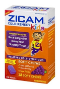 Zicam Cold Remedy Kids Soft Chews Grape Flavour - 18 Ct Two Pack