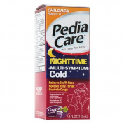PediaCare Nighttime Multi-Symptom Cold Syrup, Grape 120ml
