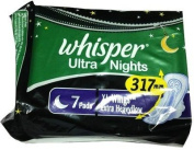2 X Whisper Maxi Ultra Night Extra Heavy Flow XL Sanitary Pad