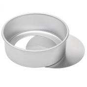 Dealglad 20cm x 7.6cm Anodized Aluminium Round Cheesecake Pan Chiffon Cake Mould Baking Mould with Removable Bottom