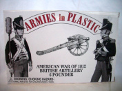 War of 1812 British 2.7kg Gun with Crew by Armies in Plastic, Offered by Classic Toy Soldiers, Inc