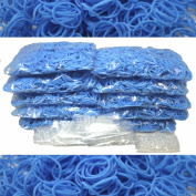 BlueDot Trading 6000-Piece Light Blue Rubber Band Kids Craft with Rainbow Bracelet Kit Refill Pack