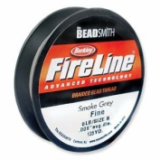 FireLine Braided Beading Thread 2.7kg SMOKE GREY .008 In 125 Yards