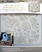 FOLKART Plaid 30948 Laser Cut Painting Stencils, 22cm by 24cm , Paisley Delight