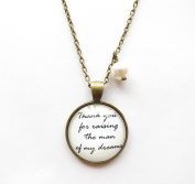 Thank You for Raising the Man of My Dreams Necklace,gift for Mother in Law,lyrical Quote Necklace,pendant Necklace,mothers' Day Gift