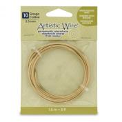 Artistic Wire 10 Gauge Wire, Tarn Resist Brass, 1.5m