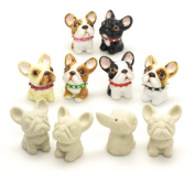 10 Pcs. Unpainted Ceramic DIY French Bulldog Dog Lover Pendants Bead Mini Figurine Ready To Paint Special Gift for any occasions Crafting Projects