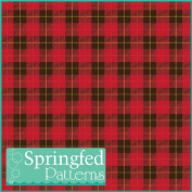 PLAID PATTERN #1 RED Craft Vinyl 3 Sheets 12x12 for Vinyl Cutters