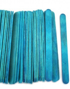 1000 Blue Standard Size Wood Craft Sticks Coloured Popsicle Stick
