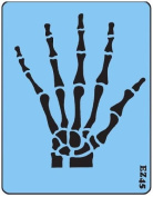 Face Painting Stencil - QuickEZ/Skeleton Hand (Man Size) #45