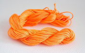 NEON ORANGE 1mm Chinese Knot Nylon Braided Cord Shamballa Macrame Beading Kumihimo String, 32-Yard