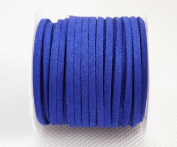 BLUE 3mm x 1.5mm Faux Suede Cord Lace Bracelet Craft Jewellery Making, 5yds Mini Spool