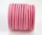 HOT PINK 3mm x 1.5mm Faux Suede Cord Lace Bracelet Craft Jewellery Making, 5yds Mini Spool