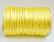 YELLOW 2mm Rattail Satin Cord Shamballa Macrame Beading Nylon Kumihimo String