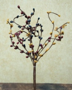 Colonial Mix Pip Berry Pick Navy Burgundy Mustard Berries Country Primitive Floral Décor
