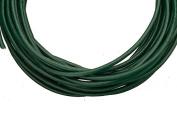 Full-grain leather cord, 2mm round emerald green 5 yard