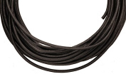 Full-grain leather cord, 2mm round black 5 yard