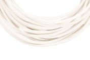 Full-grain leather cord, 2mm round white 5 yard