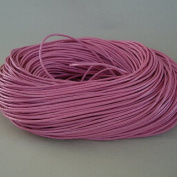 BeadsTreasure 4.6m of Rose Pink Genuine Leather Cord Round 2 mm Diameter.