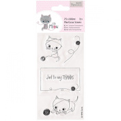 docrafts Papermania Little Meow Clear Stamps, 75 x 140 mm, Just to Say
