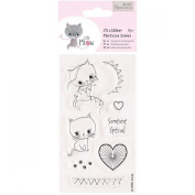 docrafts Papermania Little Meow Clear Stamps, 75 x 140 mm, Someone Special