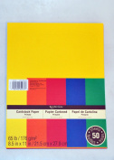 Recollections Cardstock Paper, 22cm X 28cm Primary Colours - 50 Sheets