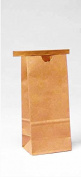 KeepFresh 8.6cm x 6.4cm x 20cm Standard Brown Kraft 0.2kg. Tin Tie & Coffee Bags - Pack of 25