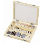In-Wooden-Box Metalsmiths Jewellers Gunsmiths Locksmiths Stone Grinding Cutting Rotary Tool Bits Combo Set for Dremel, Nice!!