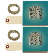 RN Nurse Caduceus Symbol Kraft Gift Boxes Set of 2