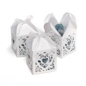 Hortense B. Hewitt Wedding Accessories 5.1cm Die Cut Decorative Favour Boxes, 25 Count, White