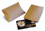 Kraft Pillow Boxes for Gift Cards