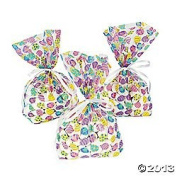 One Dozen (12) EASTER EGG Cellophane GOODY Bags/CELLO Gift/LOOT BAGS for SPRING Parties/favour/CANDY/SWEETS