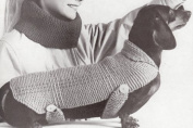 Vintage Knitting PATTERN to make - Dog Coat Blanket Sweater Dachshund. NOT a finished item, this is a pattern and/or instructions to make the item only.