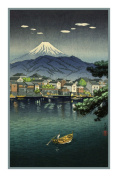 Counted Cross Stitch Chart/Graph of Japanese Artist Takahashi Shotei Numazu Harbour