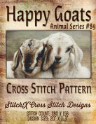 Happy Goats Cross Stitch Pattern - Baby Goat Photo-realistic Design - Beautiful Needlework Pattern