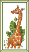AngelGift Needlecrafts Stamped Counted Cross Stitch, Animals - The Giraffe