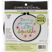 Dimensions Crafts 72-74048 Sparkle Stitch Wit Embroidery Kit