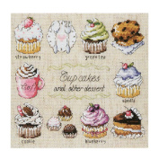 [Cupcakes] DIY Cross-Stitch 14CT Embroidery Kits Kitchen Decorations