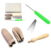 Set Needle Felting Starter Kit Wool Felt Craft Tools Needles Mat Accessories