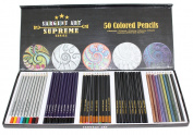 Sargent Art 50 Count Supreme Coloured Pencil Set