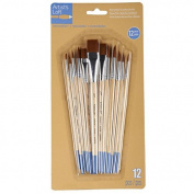 Artist's Loft Necessities Brown Synthetic Flat & Round Brushes