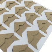 Hellohelio Self-Adhesive Photo Corners (Pack Of 240) Khaki